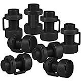 ONVAYA® Trampolin Endkappen   Set mit 8 Pfostenkappen für die Netzstangen des Trampolins (Schwarz)