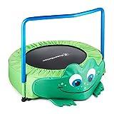 HyperMotion, Kindertrampolin - Frosch, 36' / 90 cm, Garten- und Heimtrampolin mit Schaumstoffgriff, Gartentrampolin für Kinder 3-6 Jahren, Sprung Trampolin für Indoor/Outdoor, Max. 50kg