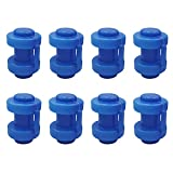 Trampolin Endkappen - 8 Stück Schutzkappen Blau   Pfostenkappen für die Netzstangen des Trampolins   Innenliegend Sicherheitsnetz Kappen Abschlusskappen für Netzstangen   Ø 25 MM