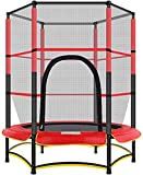 Mopoq 4.5ft / 55' Kinder Trampolin mit Sicherheitsnetz Abdeckung und Schaumstoffpolster, Gärten Outdoor-Sport der Kinder-Spielzeug-Trampolin - Last 50kg
