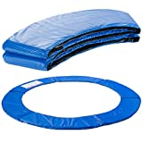 Arebos Trampolin Randabdeckung Federschutz   183, 244, 305, 366, 396, 457 oder 487 cm   aus PVC und PE   Reißfest   100% UV-beständig   Blau (blau, 366 cm)