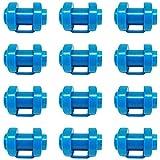 ASFINS Trampolin Kappen 25mm, 12stk Abschlusskappen Trampolin Endkappe Abschlusskappen Sicherheitsnetz für Befestigung des Sicherheitsnetzes An Den Netzstangen des Trampolins, 25mm