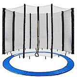 Arebos Trampolin Randabdeckung und Netz / 244, 305, 366, 396, 430, 460 und 490 cm/für 6 und 8 Netzstangen (305 cm, Netz für 8 Stangen)