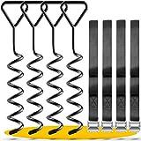 SCHMITZ.Tools Erdanker Set Premium Anker Set für Trampolin – Gewächshaus – Schaukel – Gartenhaus – Camping – Zelt - Erdanker Set mit verstellbarem Gurt für Outdoor Stahl-Schnallen