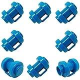 Keweni Set 8 Stück Trampolin Kappen Pfostenkappen für die Netzstangen des Trampolins Ø 25 MM, Besonders Robust Wetterbeständig Abschlusskappen Kappen Sicherheitsnetz Ersatzteil (Blue)