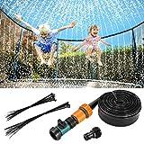 Fostoy Trampolin Sprinkler, Outdoor Trampolin Spray Wasserpark für den Sommer, Trampolin Zubehör Fun Wassersprühgerät für Jungen Mädchen