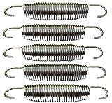 koenig-tom 6X Ersatz Trampolin Federn ca. 138mm von ca. 240 244 305 366 bis 426cm ∅ Ersatzfeder
