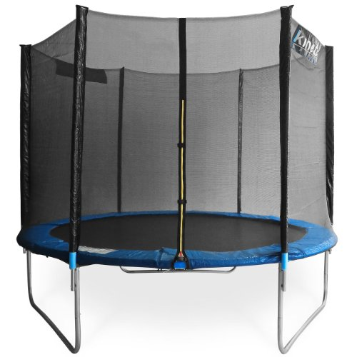 Kinetic Sports TPLH08 Trampolin Gartentrampolin mit Sicherheitsnetz 2,50m