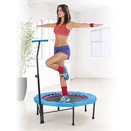 Fitness Trampolin Sport Jumper Mini Indoor mit Griff Life Jumping 120kg