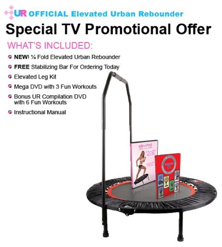 pro urban rebounder fitness mini trampolin trampolin im. Black Bedroom Furniture Sets. Home Design Ideas