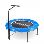 Kinetic Sports Indoor Fitness Trampolin mit Haltegriff