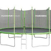HUDORA Family Trampolin mit Sicherheitsnetz, grün/schwarz, 250 cm
