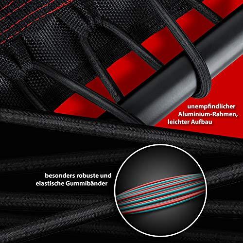 KESSER® Fitness-Trampolin FT-900, 120 cm Sprungfläche, T-Stange Haltegriff höhenverstellbarer, sehr leise Gummiseilfederung, bis 150 kg, Sport, Aerobic und Jumping, Rot